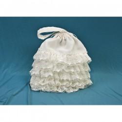 Bolso de novia con puntillas