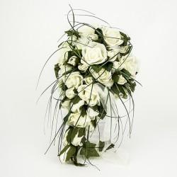 Bouquet de novia para alfileres - Bouquet de rosas blancas