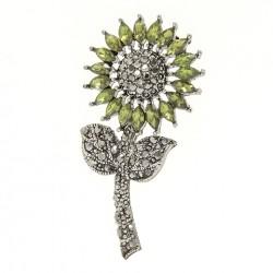 Broche de novia - Broche verde