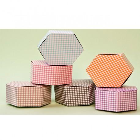 Caja para regalos hexagonal