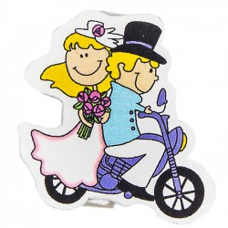 Decorar detalles boda. Pinza novios