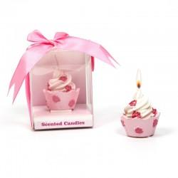 Detalles boda dulces velas cupcake