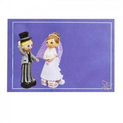 Detalles boda. Adhesivo novios