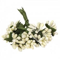 Detalles comunión diferentes. Flores beige