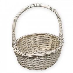 Detalles comunión. Cestas para regalos - Cesta color blanco 37 cm. diámetro