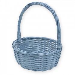 Detalles comunión. Cestas para regalos - Cesta color azul 32 cm. diámetro
