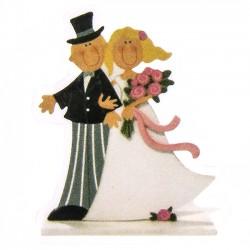 Detalles de boda para invitados. Adhesivo novios