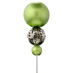 Alfileres de novia bolas verdes