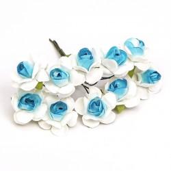 Flores para decorar bicolor - Bolsa 10 pompones color azul