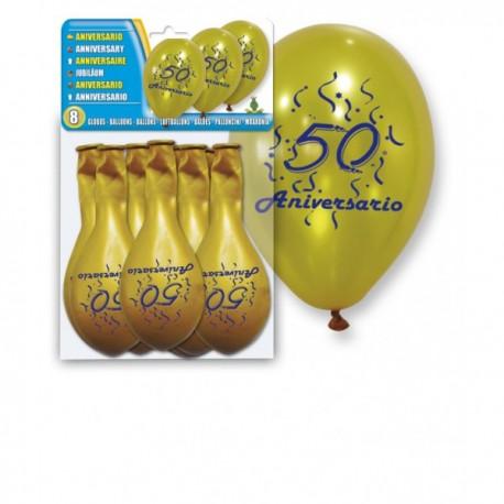 Globos Bodas Oro - Globos Bodas de Oro (8 Globos)