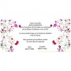 Invitación boda baratas