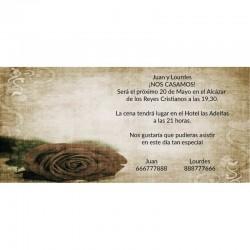 Invitación boda diferente