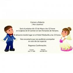Invitación boda divertida