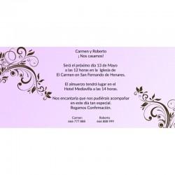 Invitación boda sencilla