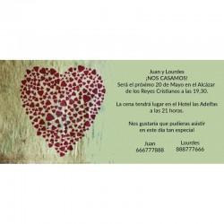 Invitación de boda romántica
