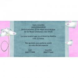 Invitaciones alegres para boda