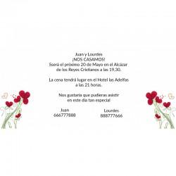 Invitaciones boda flores