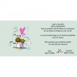 Invitaciones boda muñecos