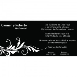 Invitaciones boda negras