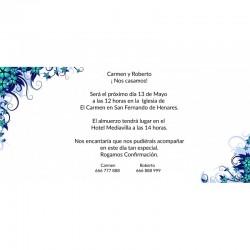 Invitaciones boda sencillas