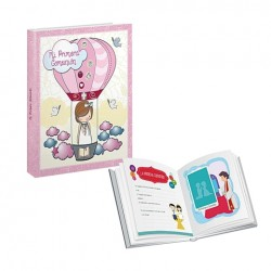 Libro de comunión niña - Libro de comunión + Maletín