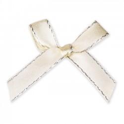 Bautizo regalos para invitados. Lazo beige