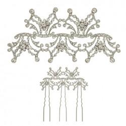 Peinas de novia - Peina color plata