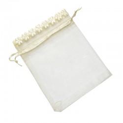 Bolsa de organza beige - 8 x 10 cms.