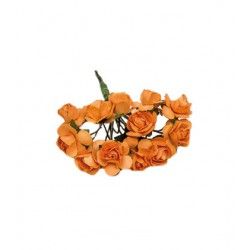 Flores para decorar regalos - Color naranja
